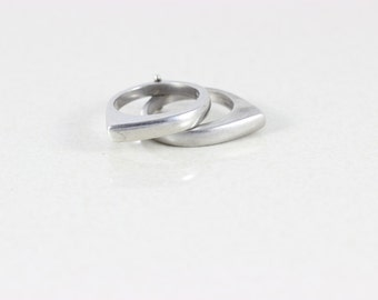Sterling Silver Interlocking Band Ring size 5 3/4