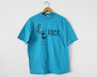 LARGE Vintage 1985 Telluride Jazz Soft and Thin Graphic T-Shirt