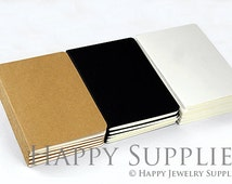 64K (A6/10x14mm) Pack of 5 Blank Kraft Notebooks. Wholesale / Bulk. Notepad. Sketchbook. Notebook Journal (NO LOGO or Marks on Cover)