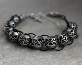 The Cloister Catholic Christian Prayer Bracelet Movable Good Deed Beads