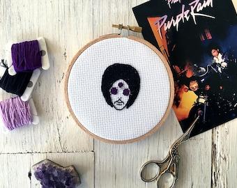 Prince Cross Stitch - Art Official Age Album Artwork Cross Stitch - Third Eye Sunglasses