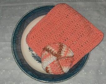 Tawashi and Dish Cloth Set