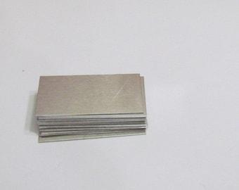7/8 x2  Bracelet ID Blanks -18Gauge blanks -  Aluminum Blanks SALE - Rectangle blanks - jewelry supplies - Metal blanks - Hand Stamping