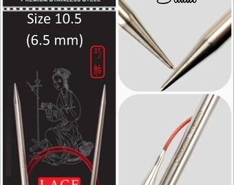 US 10.5 (6.5mm) Chiaogoo Red Lace Circulars - Choice of Length