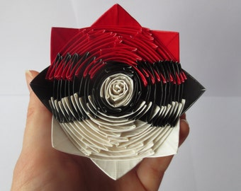 Duct Tape Pokéball Rose