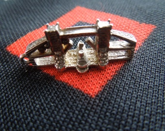 Vintage London Tower Bridge  With Ship Silver Charm for Bracelet from Charmhuntress 02598
