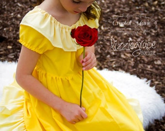Belle Inspired Dress - Everyday Princess Belle - Belle Costume - Belle Dress - Princess Dress - Beauty and the Beast Dress - Disney Outfits