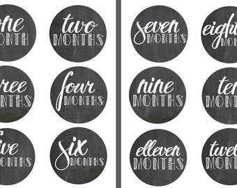 Printed Baby Onesie Stickers- Chalkboard Design