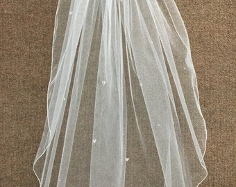 Hidden Mickey Wedding Veil - Fingertip Length