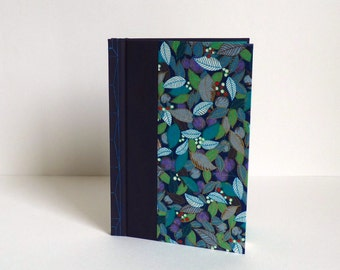 Book drawing or guestbook. Japanese bookbinding, paper washi, reason for foliage, white pages