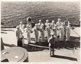 WWII Navy Sailors ~  Vintage Military Snapshot Photo