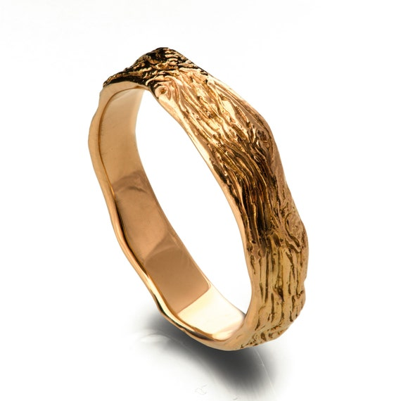 Twig Ring 18K Rose Gold Ring uni ring wedding ring