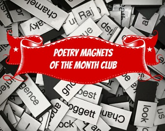 Poetry Magnets of the Month Club Subscription