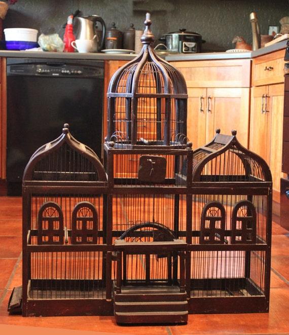 bird cage antique large bird cage by anythingdiscovered on etsy. Black Bedroom Furniture Sets. Home Design Ideas