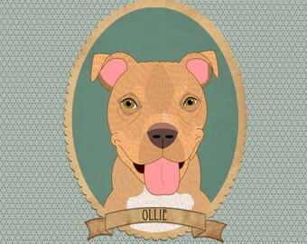 Custom dog portrait. Personalized pet portrait. Dog portrait. Pet portrait. Pet portrait commission. Multiple individual prints.