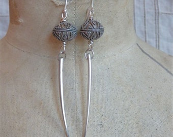 Intricate Bead and Spike Earrings
