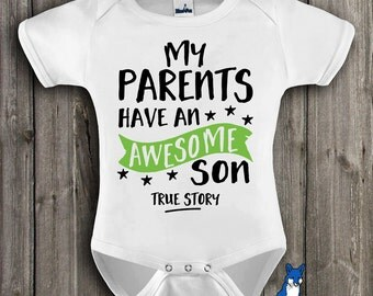 Baby Clothing-Awesome Son shirt-baby shower gift-Baby Clothes-Baby boy clothes-Cute baby clothes-Baby boy gift,-Awesome shirt-ONE_289