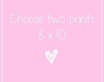 TWO 8 x 10 prints, Fashion illustration, Fashion art illustration 8x10 set, Fashion art set, Art print set, Set of 2, Fashion prints