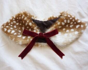 Fawn/Deer Ribbon Fur Collar
