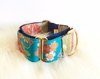 "Adjustable Martingale dog collar ""Japanese ink"""