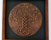 RESERVED for BRIELLE Yggdrasil unframed relief w/COPPER finish