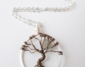 Tree Of Life Necklace Silver Plated