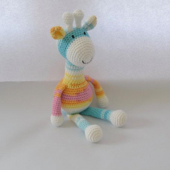 Crochet Giraffe Cuddly Toy Amigurumi Uk Seller