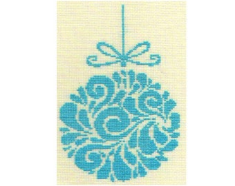 Christmas Bauble Cross Stitch Pattern PDF ** Instant Download **