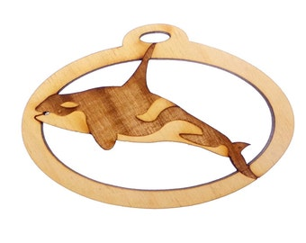 Orca Whale Ornament - Orca Whale Ornaments -  Personalized Free