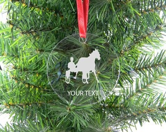Personalized Custom Harness racing Clear Acrylic Christmas Tree Ornament