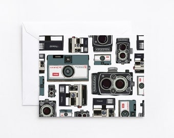 Camera Notecard Set of 8 | Illustrated Vintage Camera Folded Notecards : Photographer's Notes