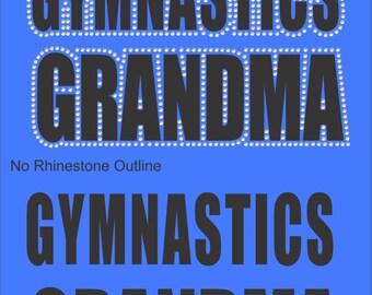 Gymnastics Grandma Sweatshirt/ Gymnastics Sweatshirt/ Vinyl Rhinestone Gymnastics Grandma Hoodie Sweatshirt/ Gymnastics Gift