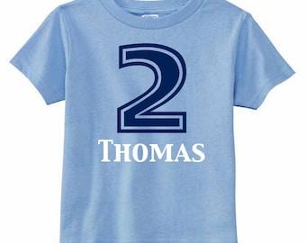 Number Shirt | Birthday Number Shirt | College Football Shirt | Personalized Kids Birthday Shirt | 2nd Birthday Shirt | Birthday Party Shirt