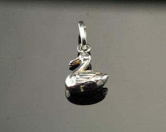 Sterling Silver Swan Charm Vintage
