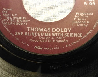 She Blinded Me With Science - Thomas Dolby - 45 RPM Single