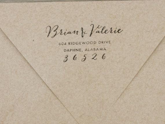 Return Address Envelopes For Wedding Invitations Return Address Stamp Envelope Addressing Wedding By