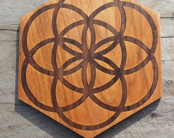 Flower Of Life And Metatron S Cube Sustainable Wood By Biomorphics