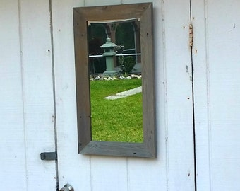 Rustic Mirror Bathroom Vanity Beach Cottage Chic Wall Hanging