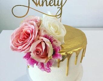 Ninety Cake Topper 90th Birthday Cake Topper Ninetieth Cake
