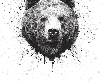 Bear A4 Print signed limited run of 50