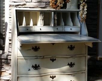 Customize a Vanity, Secretary, Desk, Vintage Vanity, Ladies Writing Desk, Flip Top Desk