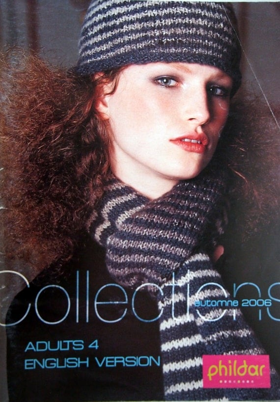 Phildar Collections Adults 4 English Version Knitting Pattern