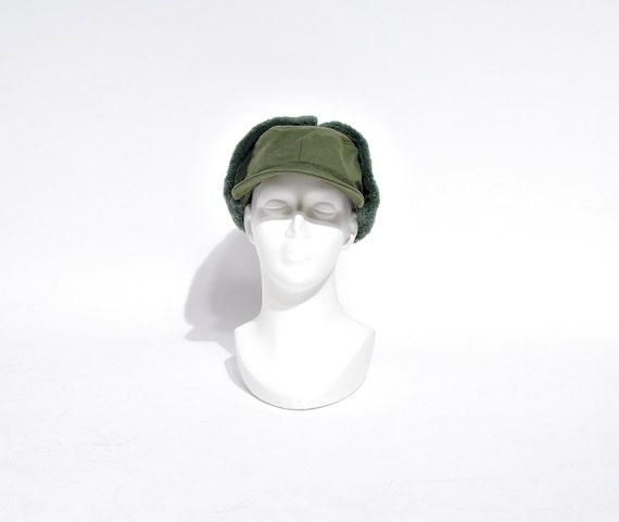SALE - 1966 Swedish Army Fall Winter Earflaps Cap / Size 56