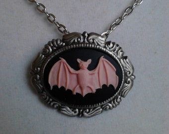 The Blushing Bat necklace/brooch