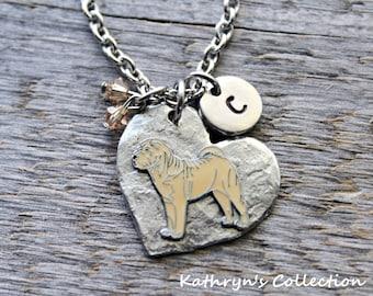 Shar Pei Necklace, Shar Pei Jewelry, Shar Pei, Sharpei, Shar Pei Mom, Heart Dog, Gift for Dog Lover