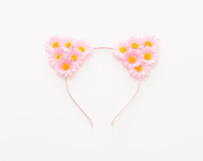 Pink Cat Ear Headband