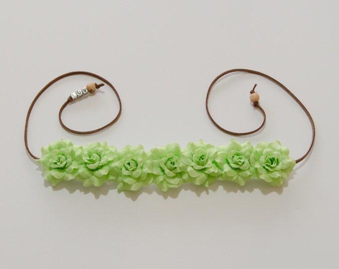 Light Green Rose Flower Crown
