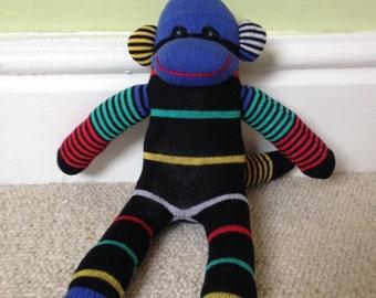Noah the stripey sock monkey