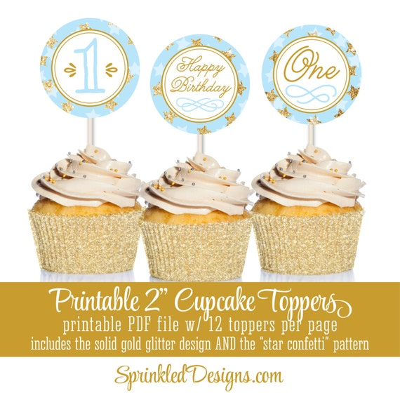 Printable Cupcake Toppers Cake Circles - Twinkle Twinkle Little Star ...
