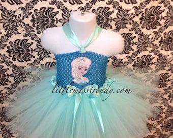 Frozen Inspired Elsa Dress, Elsa Tutu Dress, Elsa Halloween Costume, Elsa Costume, Elsa Tutu Dress, Elsa Tutu, Elsa Tutu Costume, Queen Elsa